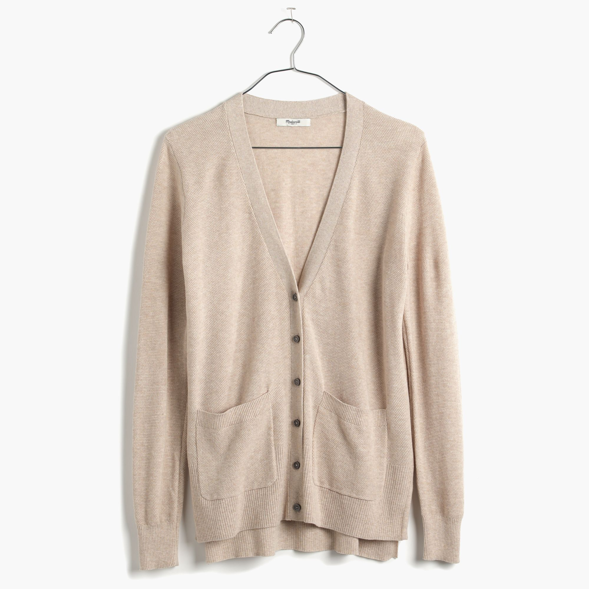 Madewell Spring-weight Cardigan Sweater in Natural | Lyst