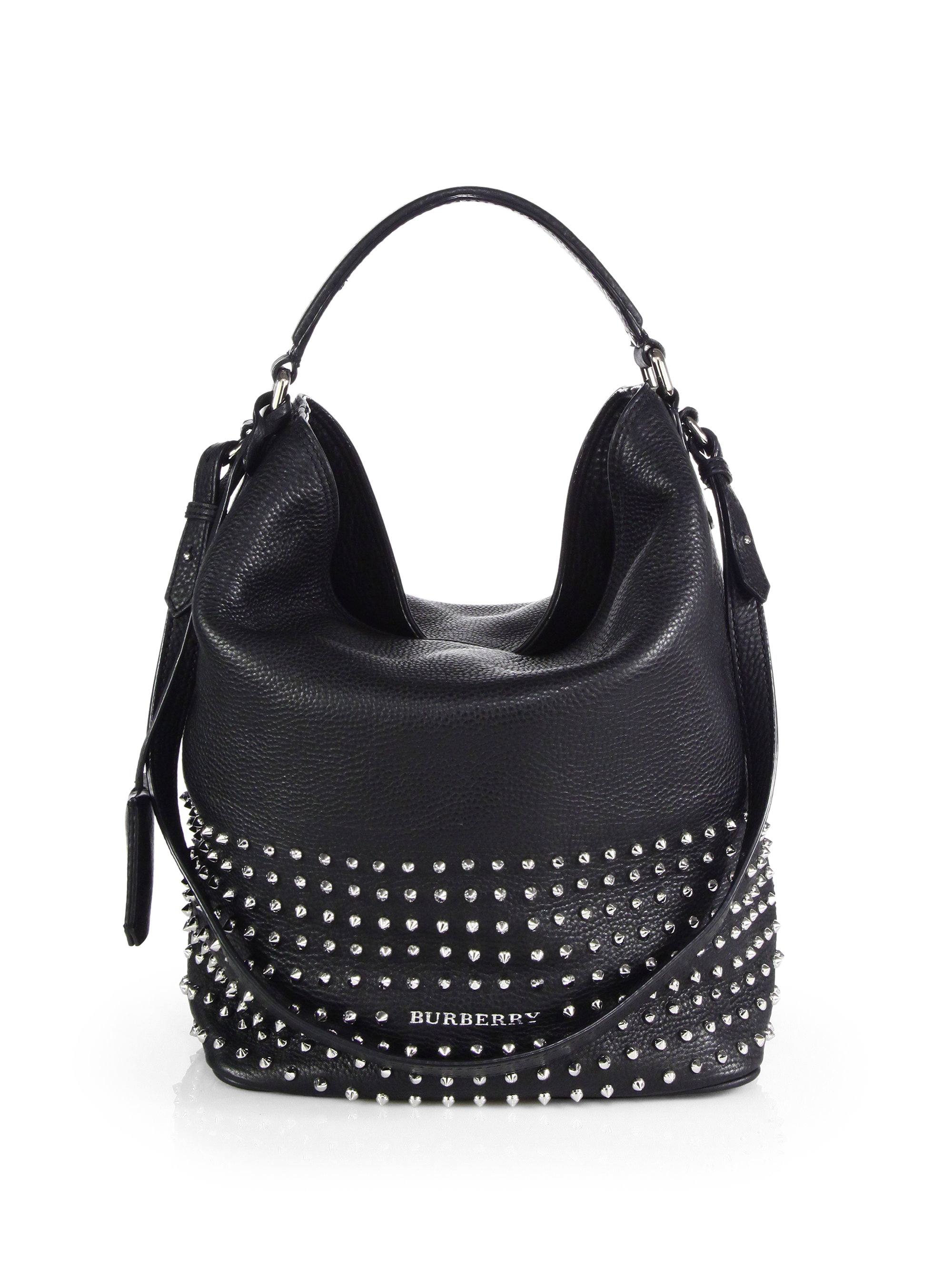 Burberry Susanna Medium Studded Bucket Bag in Black  313bed1a8c7fa