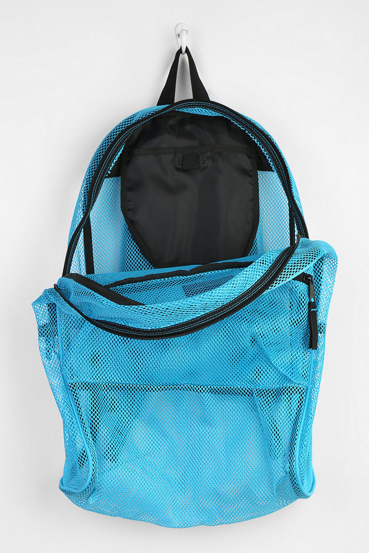 Lyst Jansport Mesh Backpack In Blue