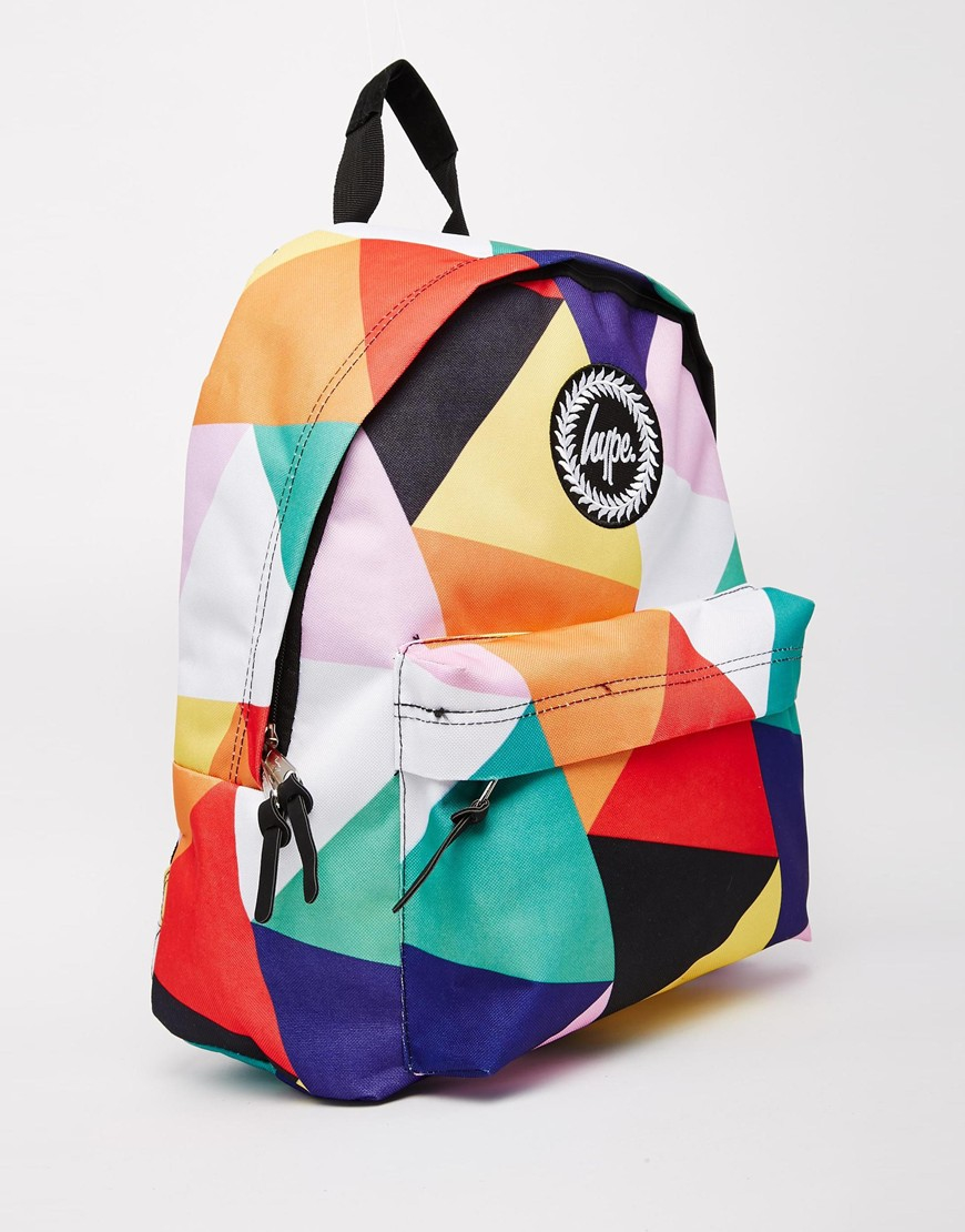 73b46f0b02cb Lyst - Hype Geometric Multi-coloured Backpack in Blue