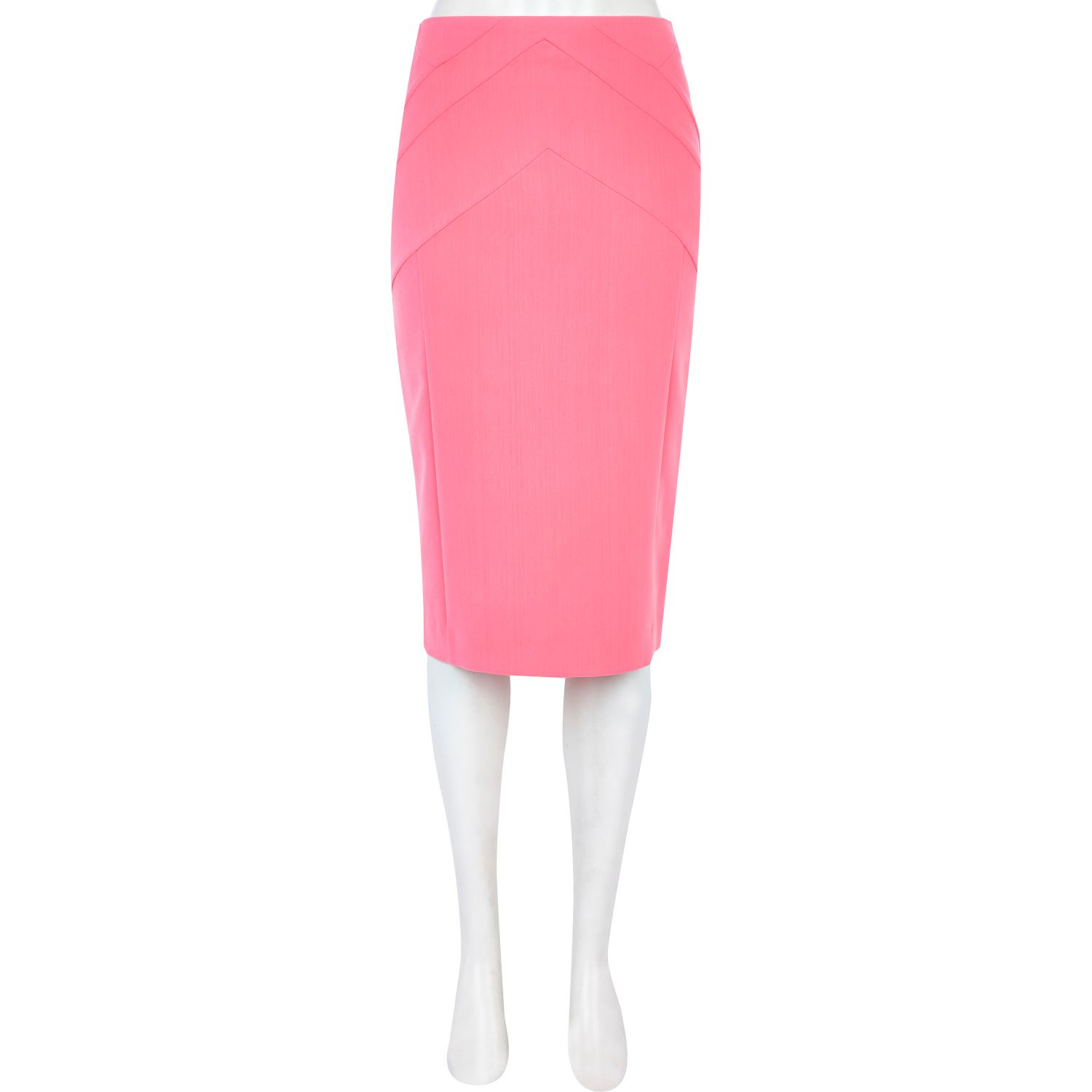 river island light pink zip through pencil skirt in pink