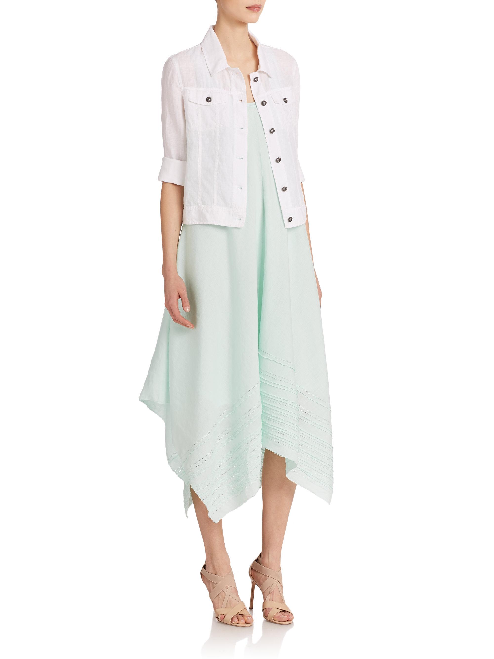 Women's cropped linen jacket