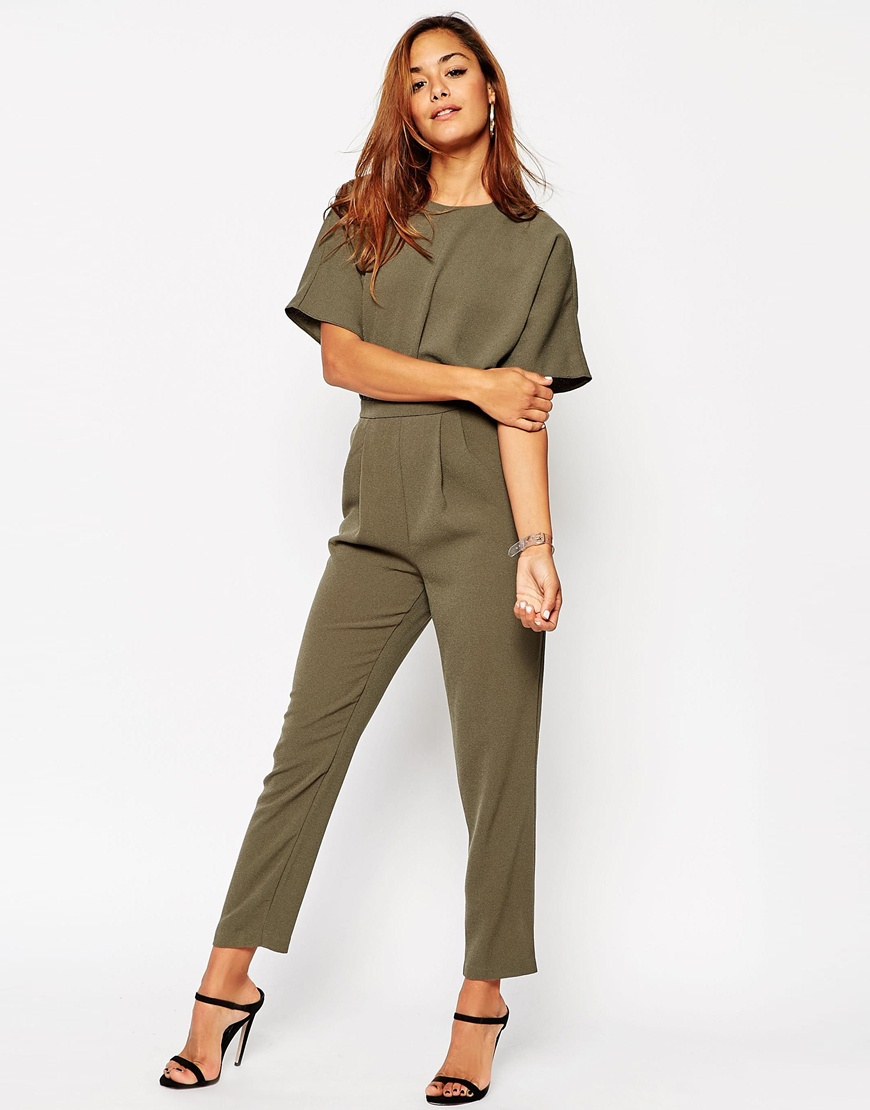 ec7a109e792 Lyst - Asos Jumpsuit With Kimono Sleeve in Natural