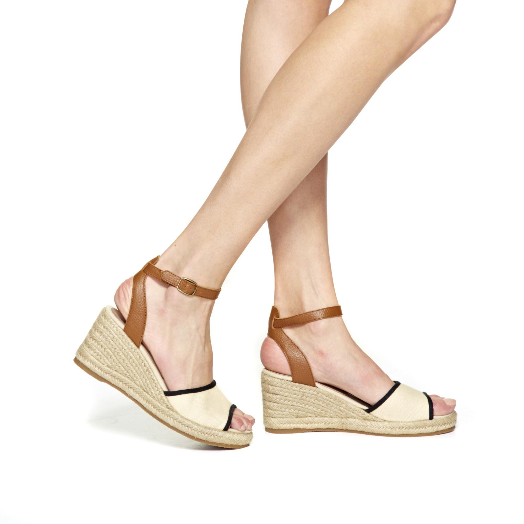 491749896be0 Lyst - Soludos Wedge Classic Stripe Womens Gatsby Sandal Woven Dali ...