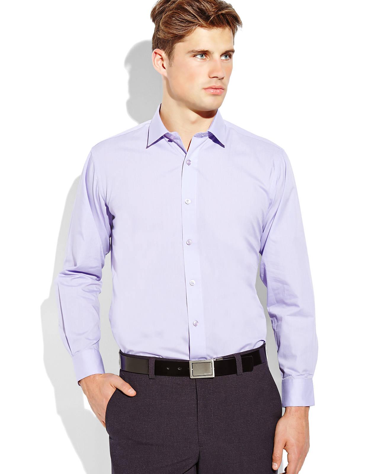 Lyst Pierre Cardin Violet Slim Fit Dress Shirt In Purple For Men