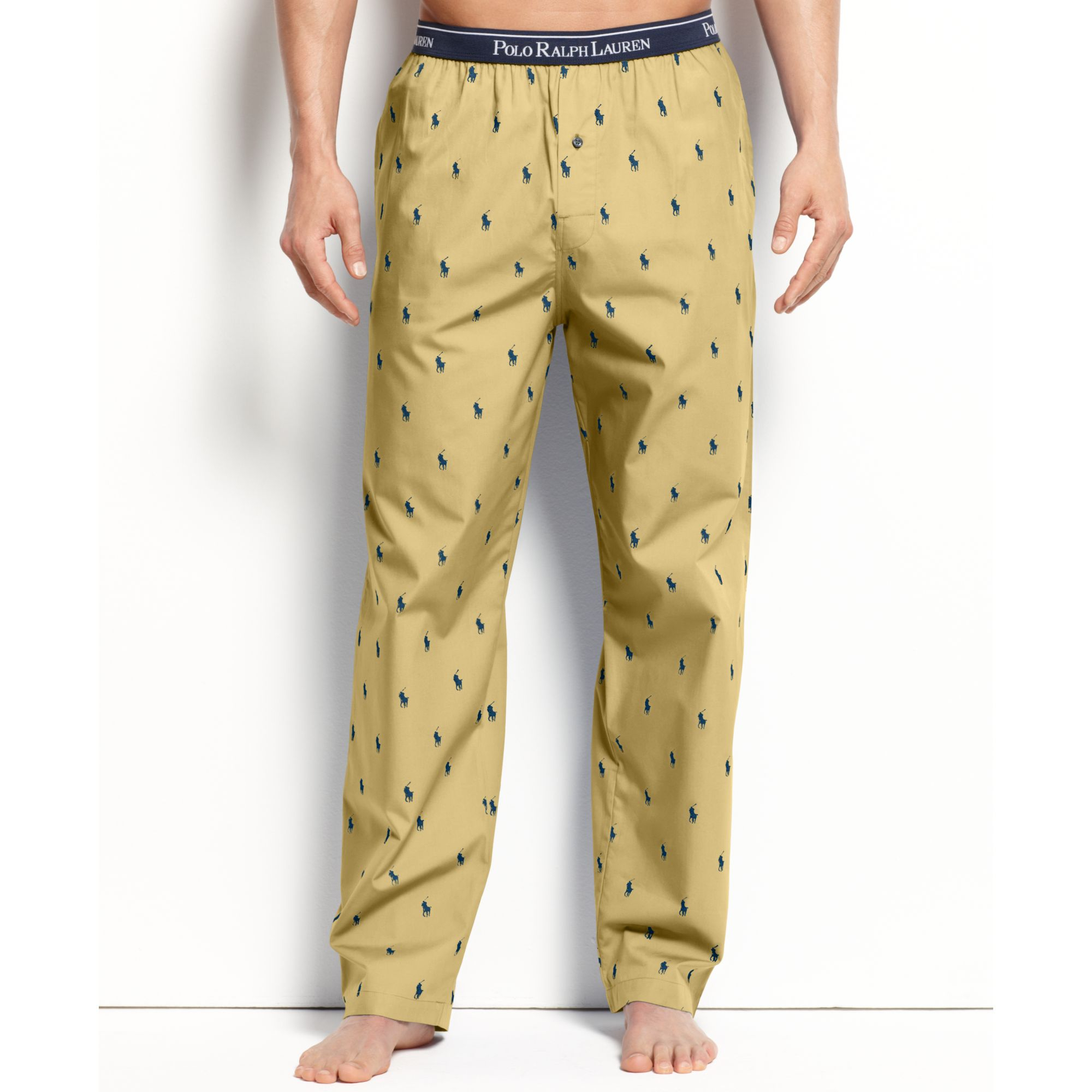 a5547d2808 Lyst - Polo Ralph Lauren All Over Polo Player Woven Pajama Pant in ...