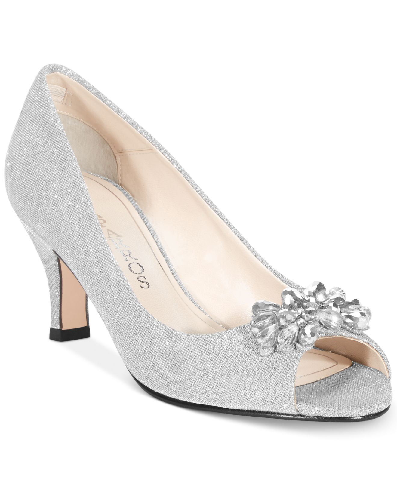 659d04e3727 Lyst - Caparros Marissa Evening Pumps in Metallic