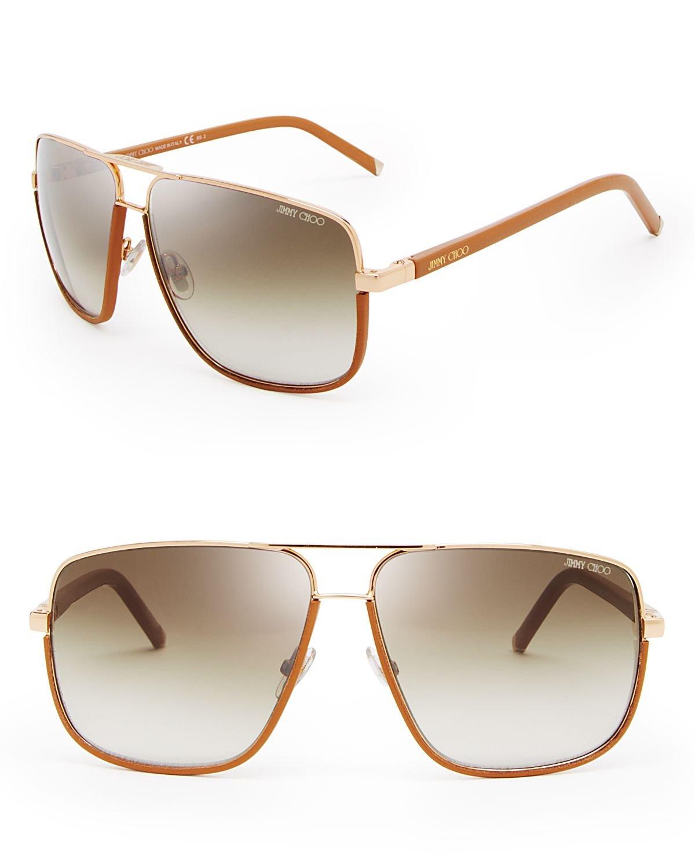 8a30691f634 Lyst - Jimmy Choo Carry Aviator Sunglasses in Metallic