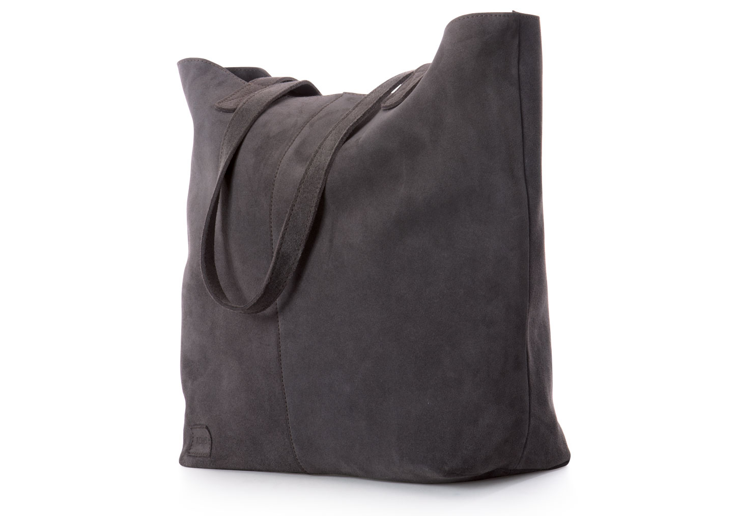 7f4e317437a TOMS Charcoal Soft Suede Cosmopolitan Tote in Gray - Lyst