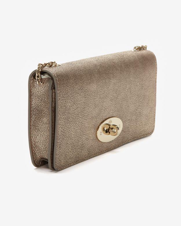 f25ec7be01 ... shop lyst mulberry bayswater metallic mushroom goat wallet clutch in  brown b70e7 54910 ...