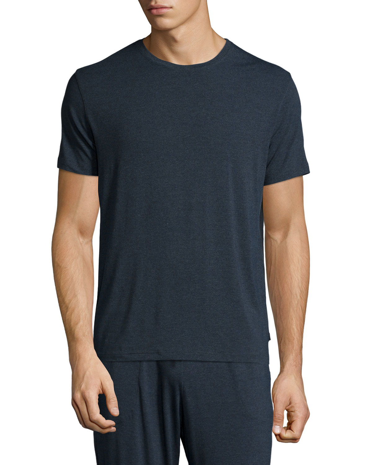 Derek rose crew neck modal blend t shirt in gray for men for Modal t shirts mens