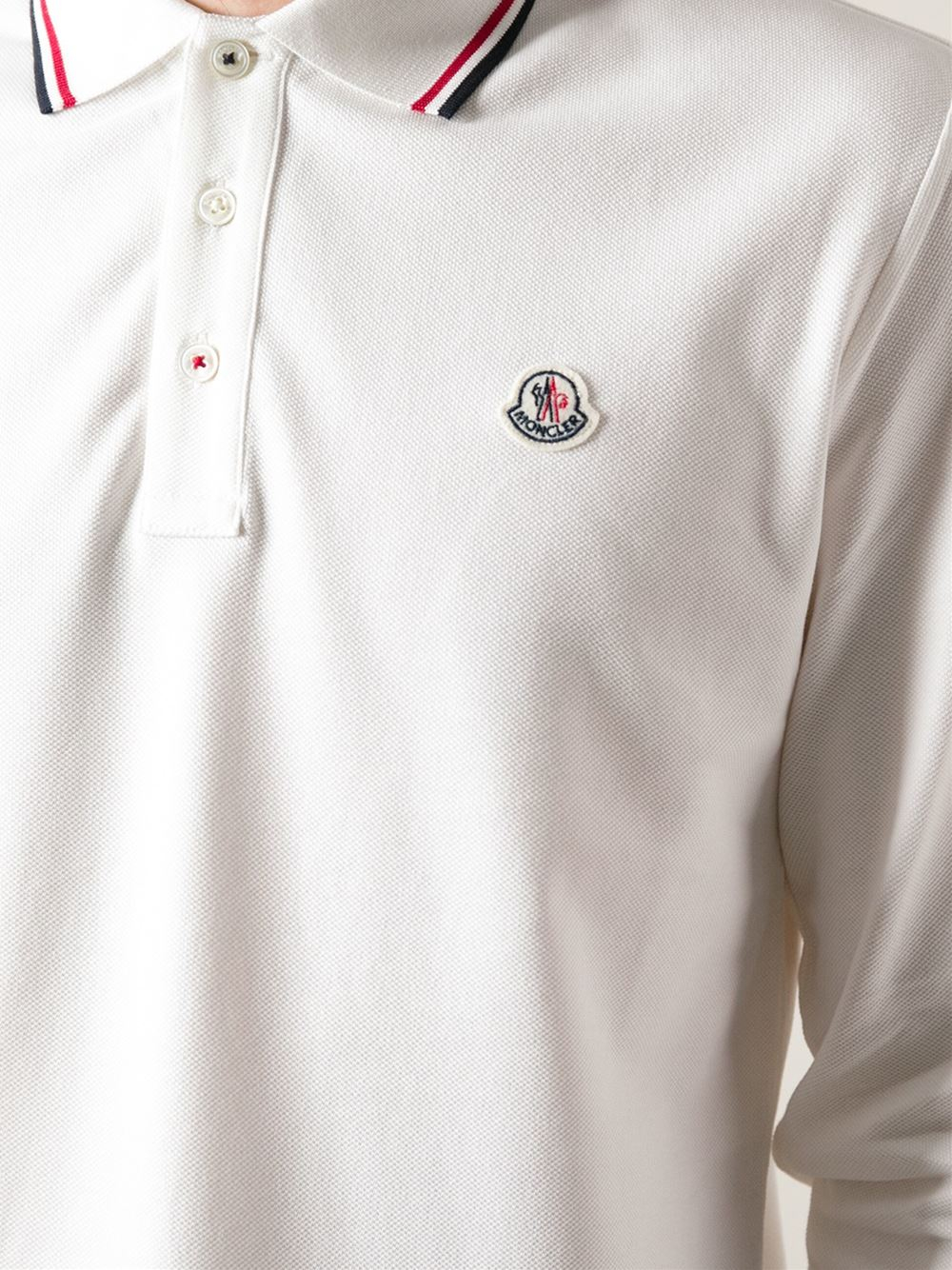 6a6b74af6c7c mens moncler long sleeve polo shirt