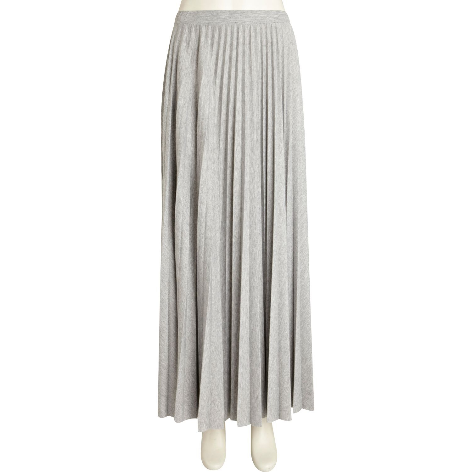 river island grey marl pleated maxi skirt in gray lyst