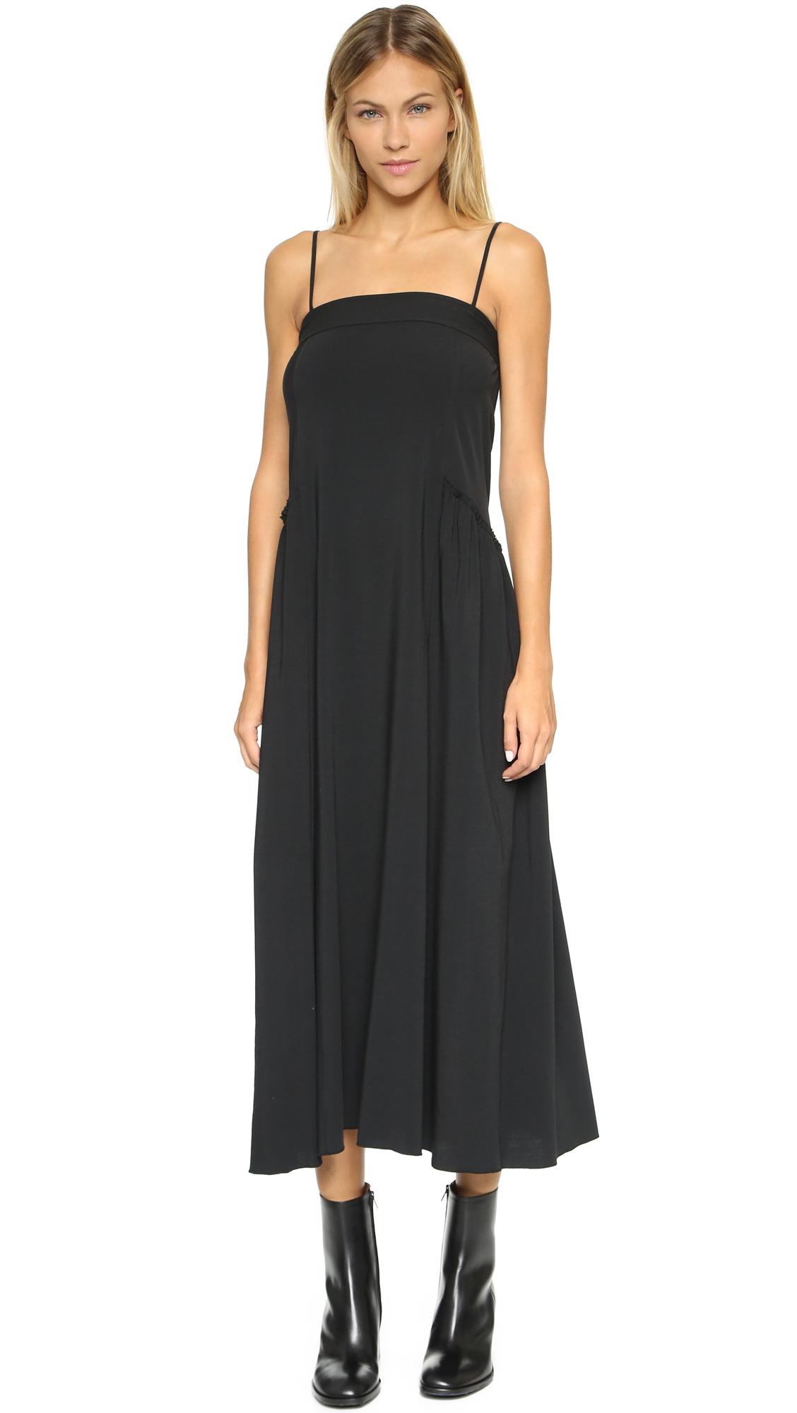 Black strap maxi dress