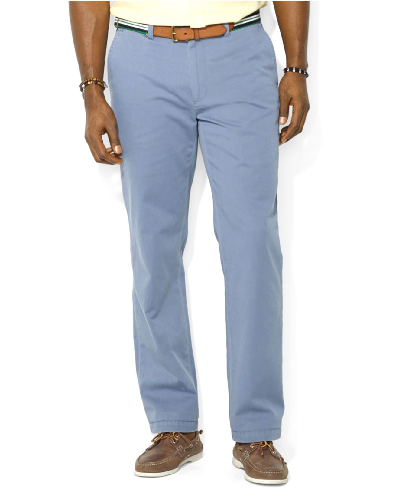great deals on fashion half off street price Polo Ralph Lauren Blue Suffield Classic-Fit Flat-Front Chino Pants for men