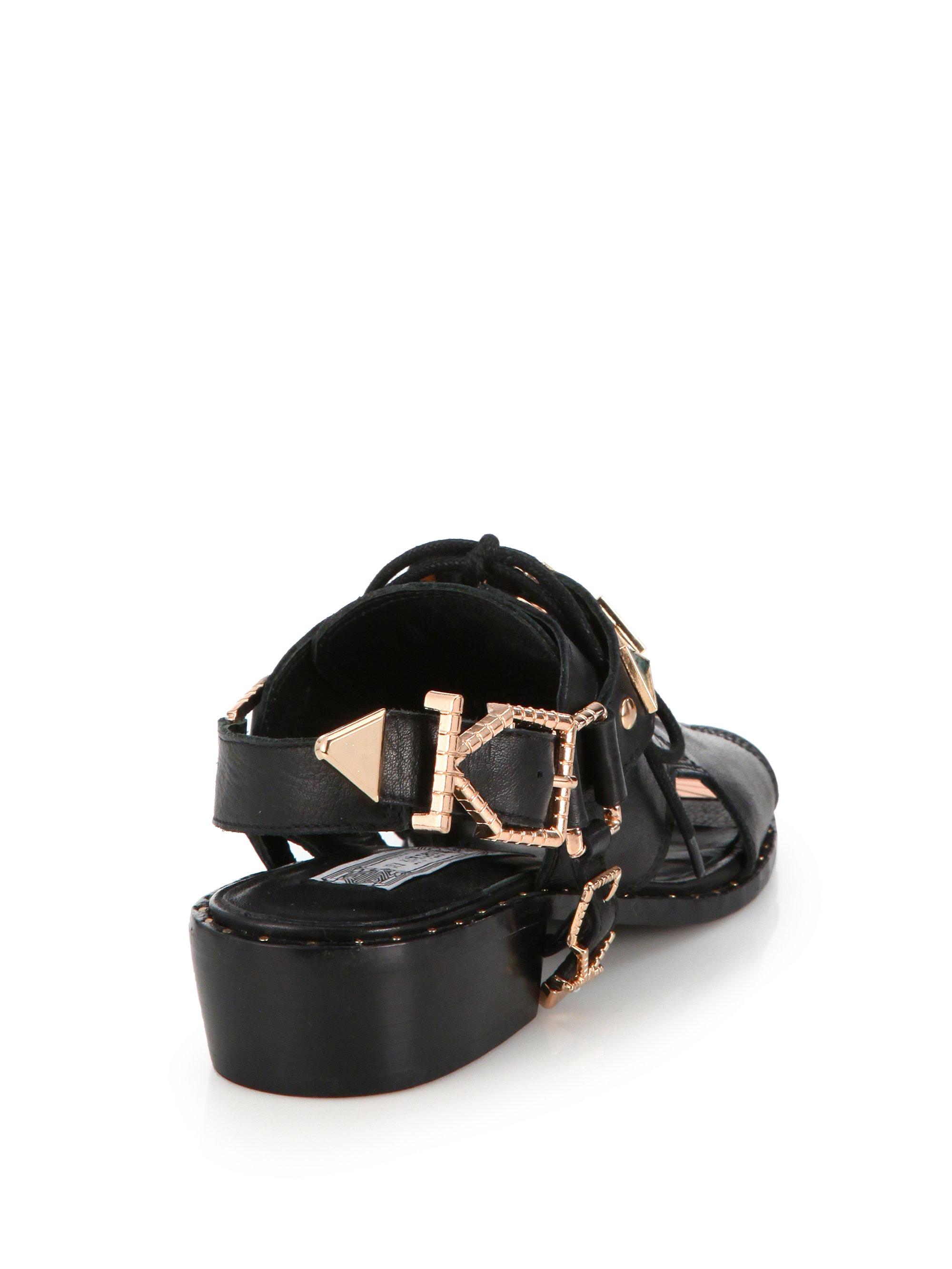 Lyst Ivy Kirzhner San Jose Cut Out Sandals In Black