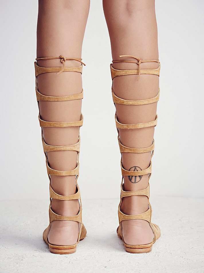05e0d037df6c Lyst - Free People Desert Horizon Tall Gladiator Sandals in Natural
