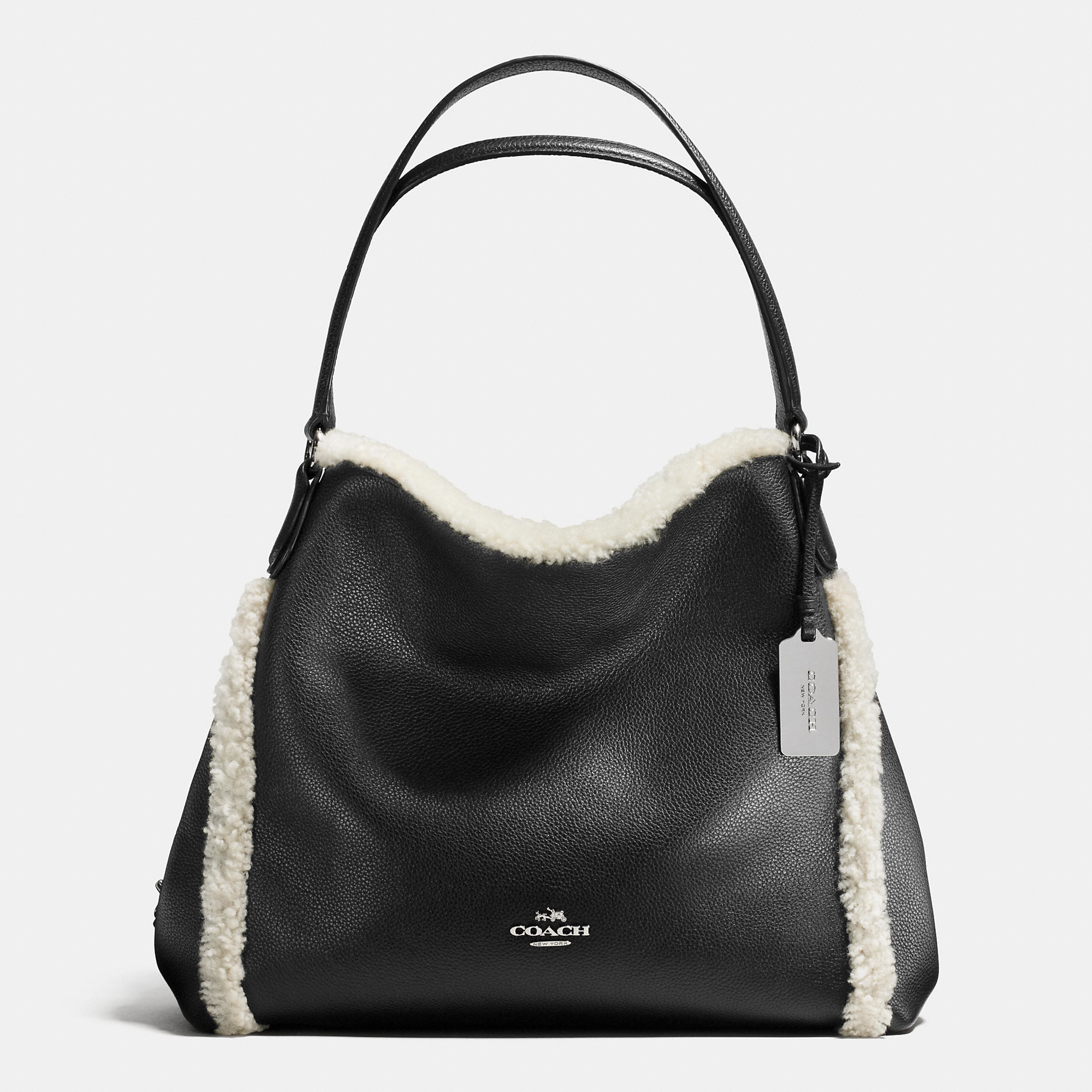 coach bag black and gray 4k0z  Gallery Women's Coach Edie Women's Shearling Bags