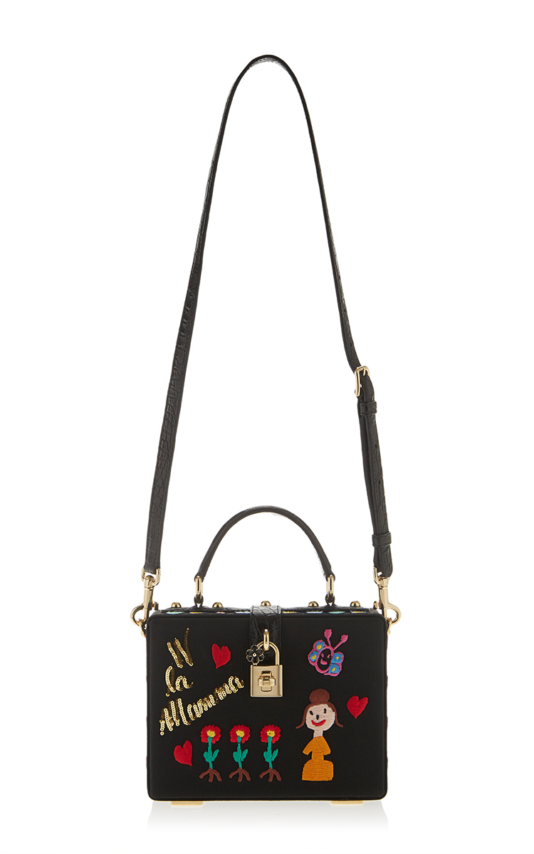 40a7ef91ef Lyst - Dolce   Gabbana Mamma Embroidered Dolce Bag in Black