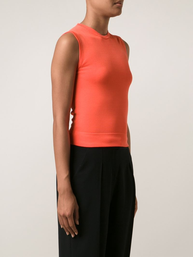Brock Collection Ribbed Tank Top In Orange Lyst