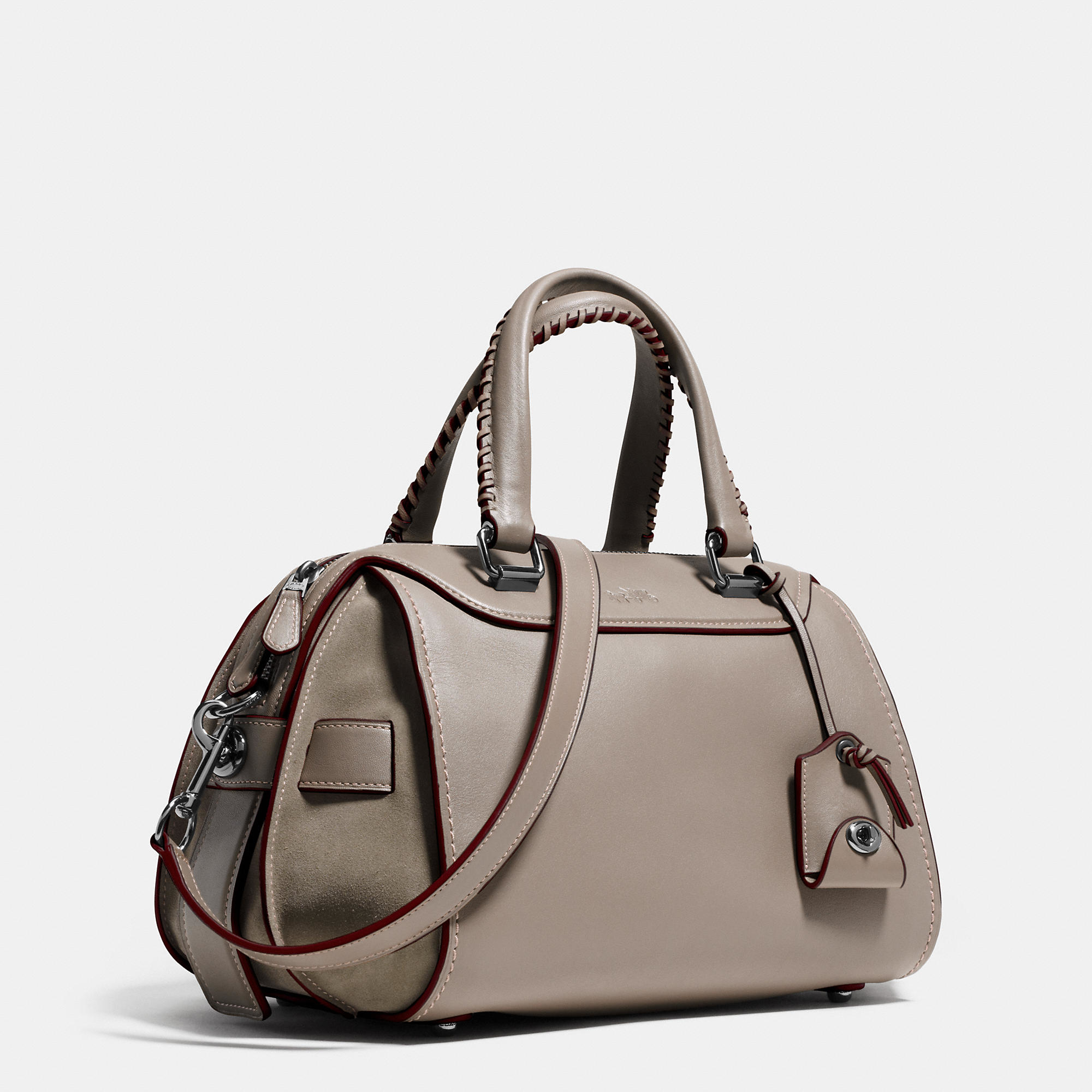 a9489bd536 sweden coach fashion signature medium black shoulder bags dzj c1d43 2dc6f   best lyst coach ace satchel in glovetanned leather and suede in gray 3fc99  91a2b