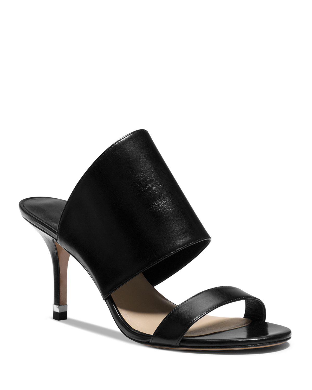Michael Kors Open Toe Slide Sandals Suzanne High Heel In