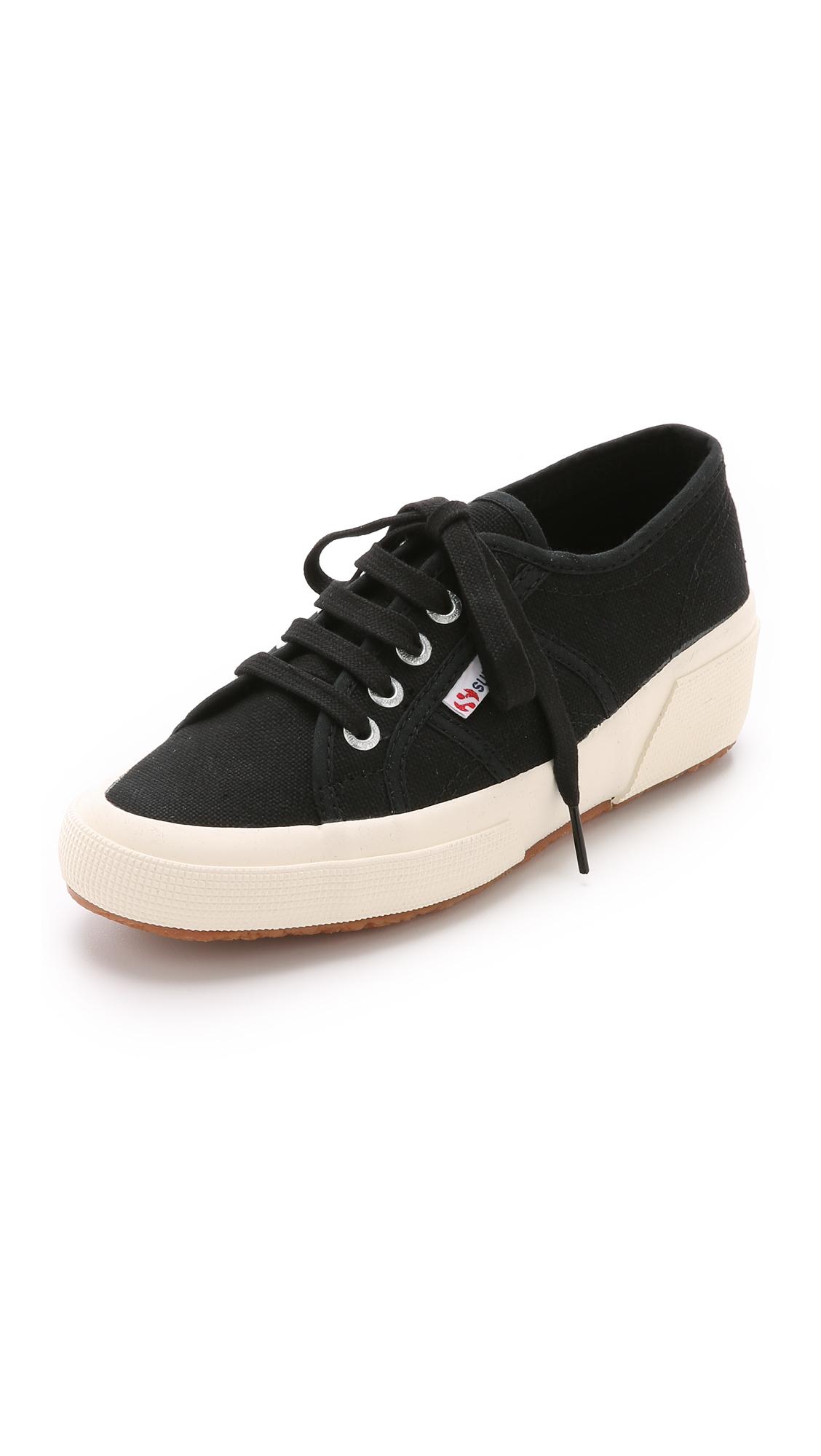 2519c947c1e2 Lyst - Superga 2904 Cotu Wedge Sneakers - White in Black