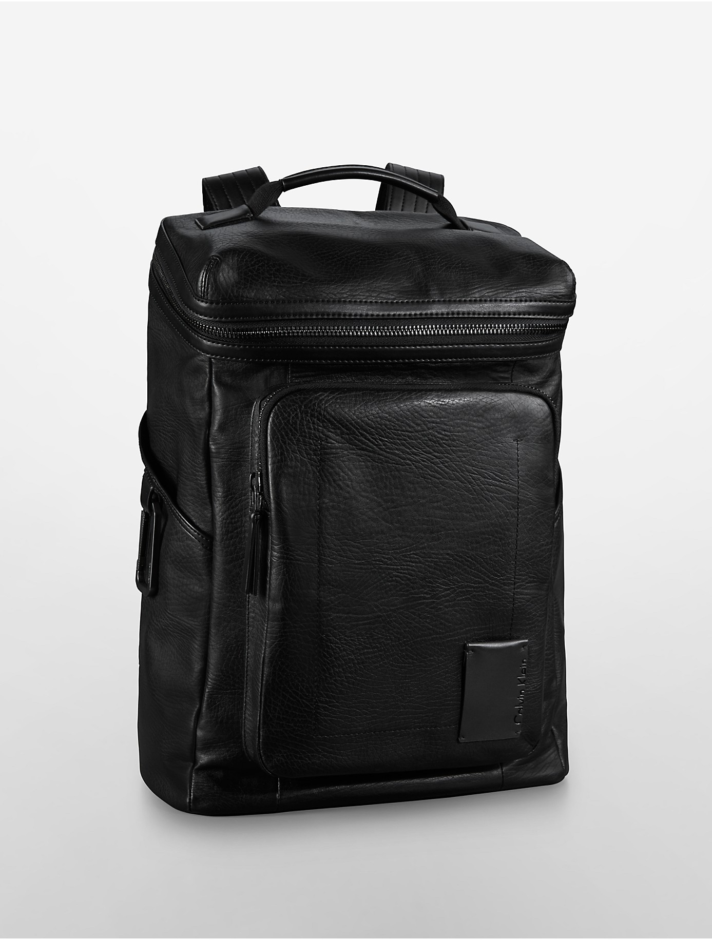 Calvin Klein Jeans William Textured Leather Backpack In