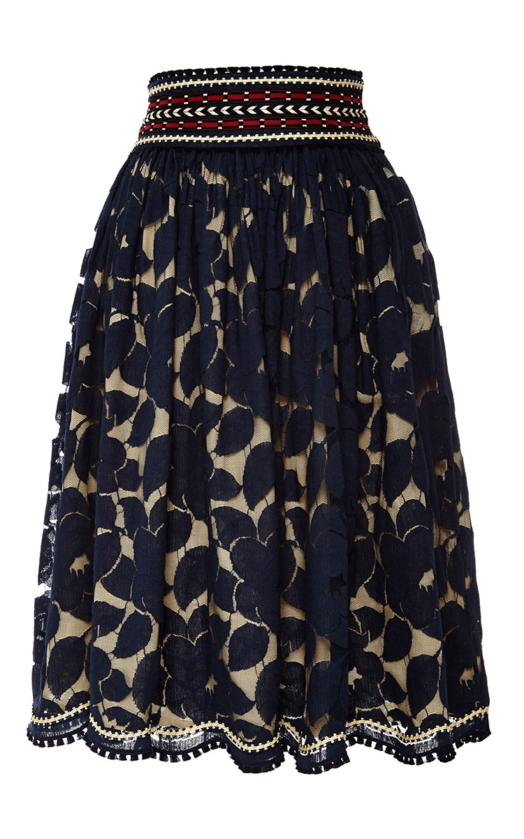 lena hoschek tschad skirt in blue navy lace lyst. Black Bedroom Furniture Sets. Home Design Ideas