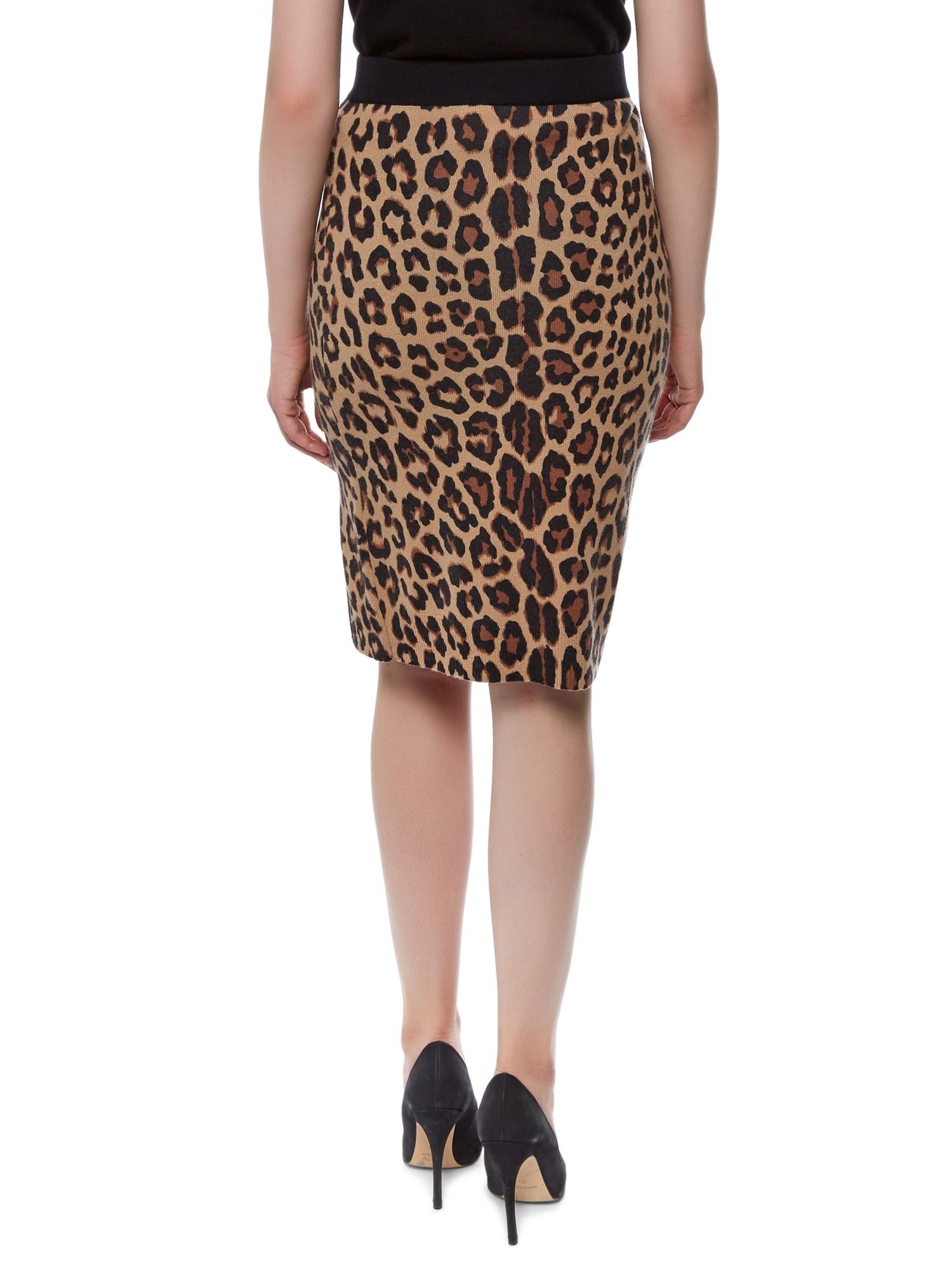 Jaeger Leopard Print Skirt Lyst
