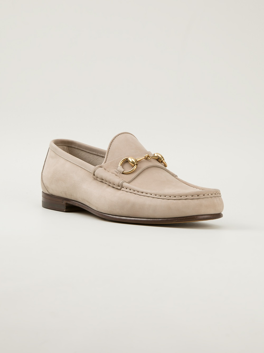 c6eb5c74f3d Lyst - Gucci Driving Loafers in Natural for Men