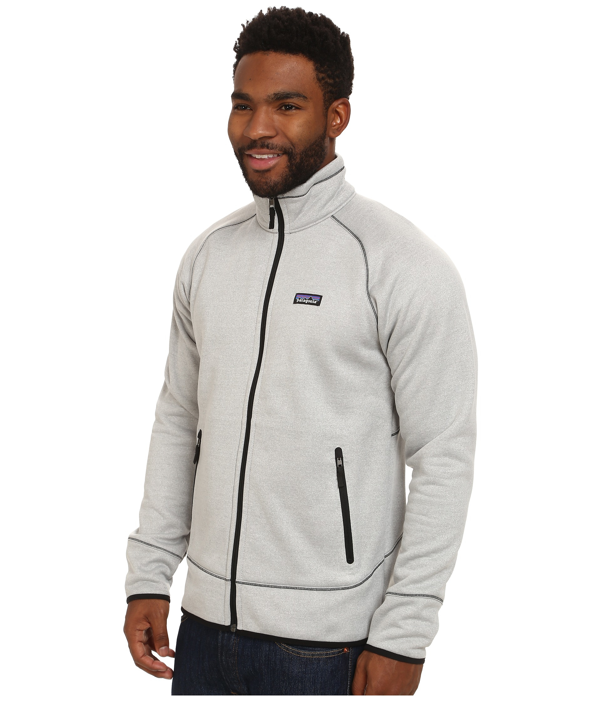 Patagonia Tech Fleece Jacket in White for Men | Lyst