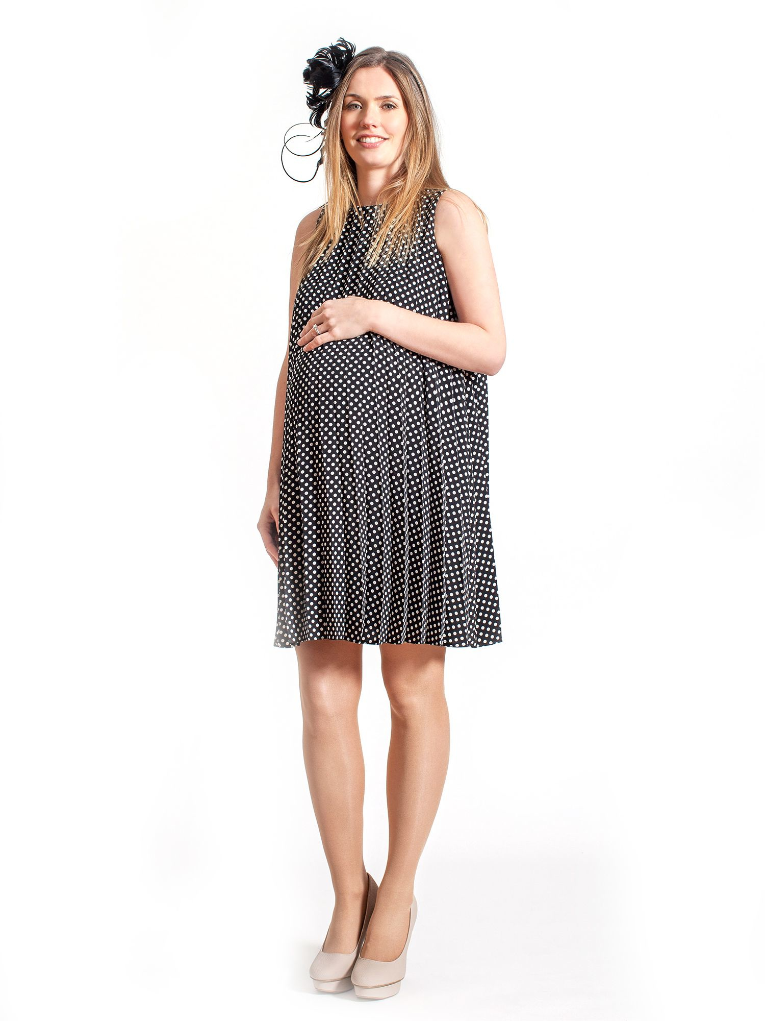 Rock a bye rosie poppy pleated maternity dress in black lyst gallery ombrellifo Image collections