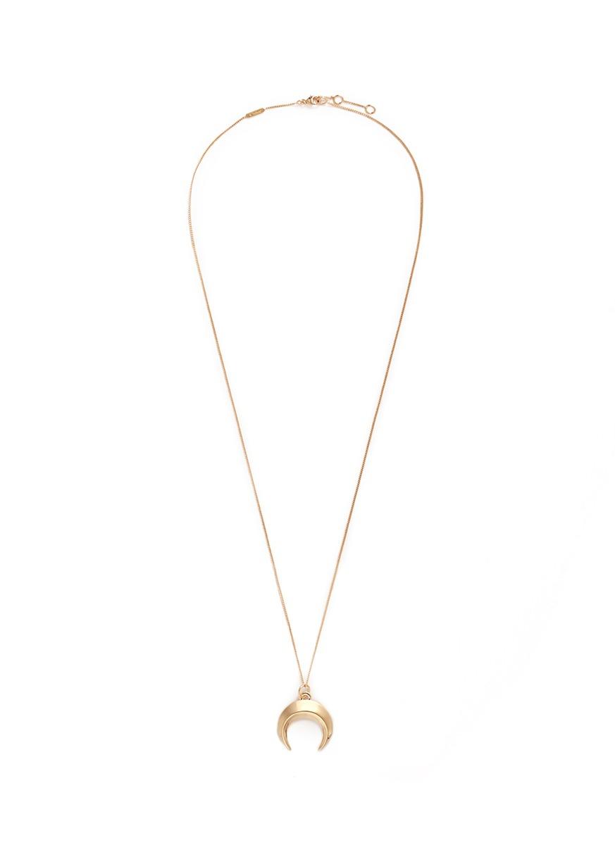 Chloé U coin pendant necklace - Metallic dS38tN5c