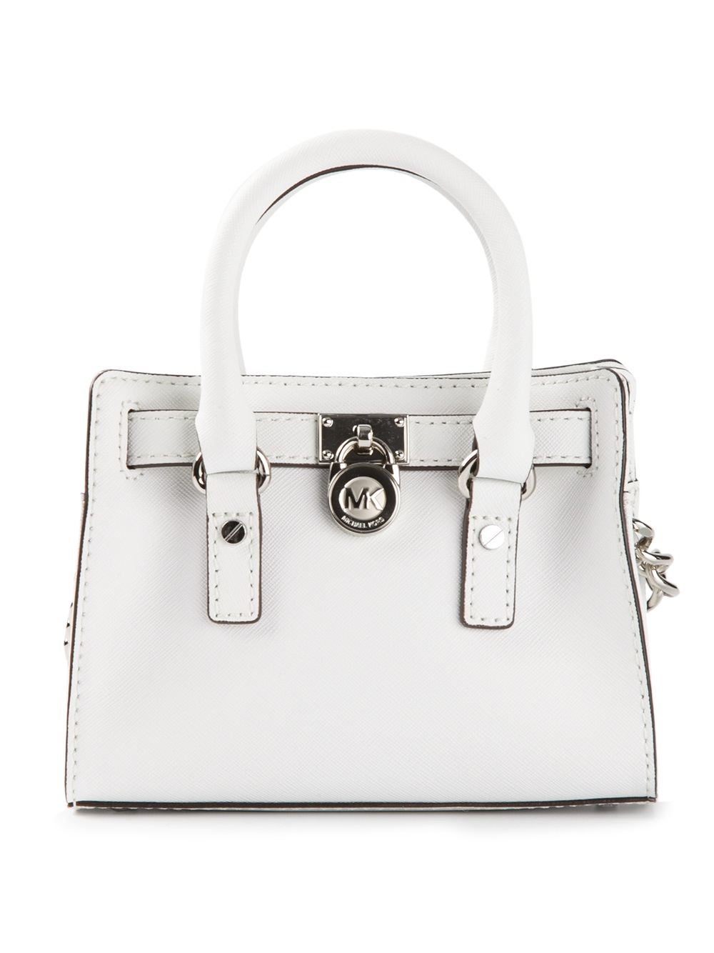 261f81decfc9b MICHAEL Michael Kors Small Hamilton Shoulder Bag in White - Lyst