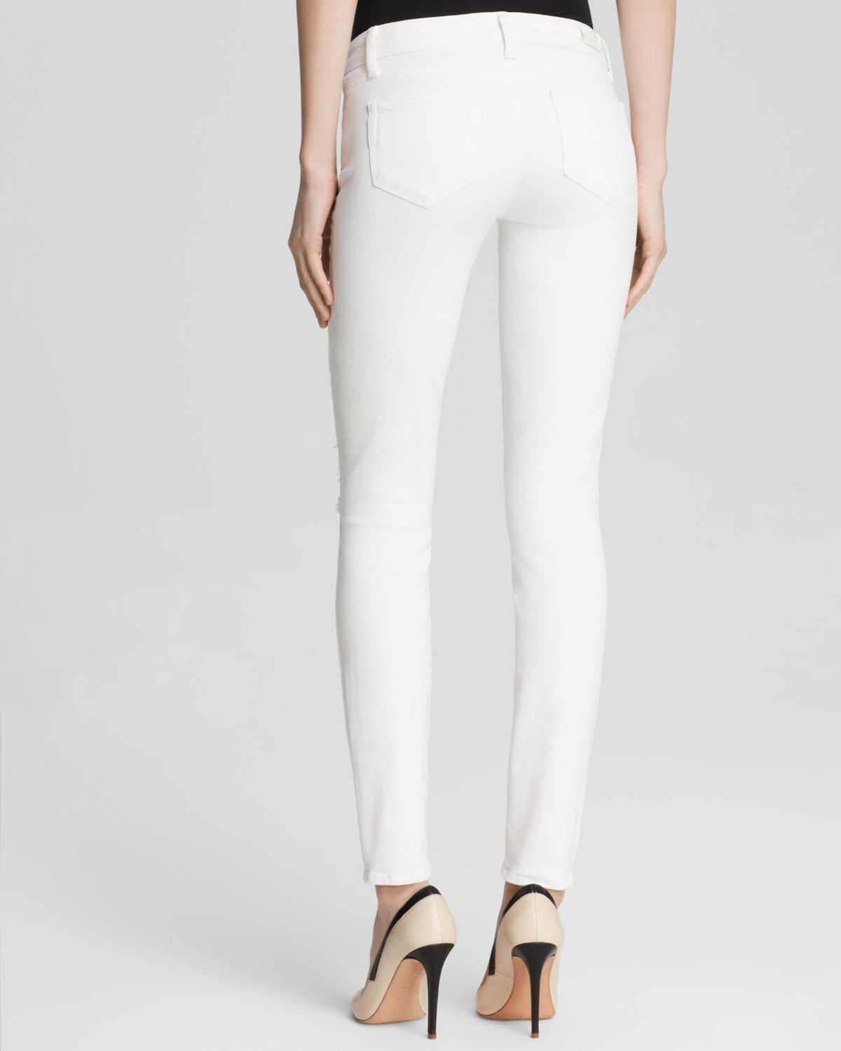 Paige Denim White Skinny Jeans - Jeans Am