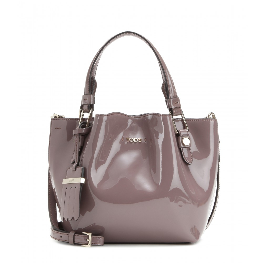 Tod s Flower Micro Patent Leather Bag in Gray - Lyst 9705dee332072