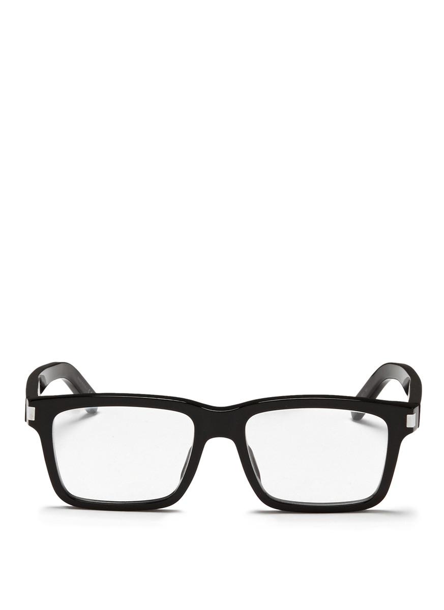 f5a28c81c58 Lyst - Saint Laurent Square-Framed Acetate Optical Glasses in Black ...