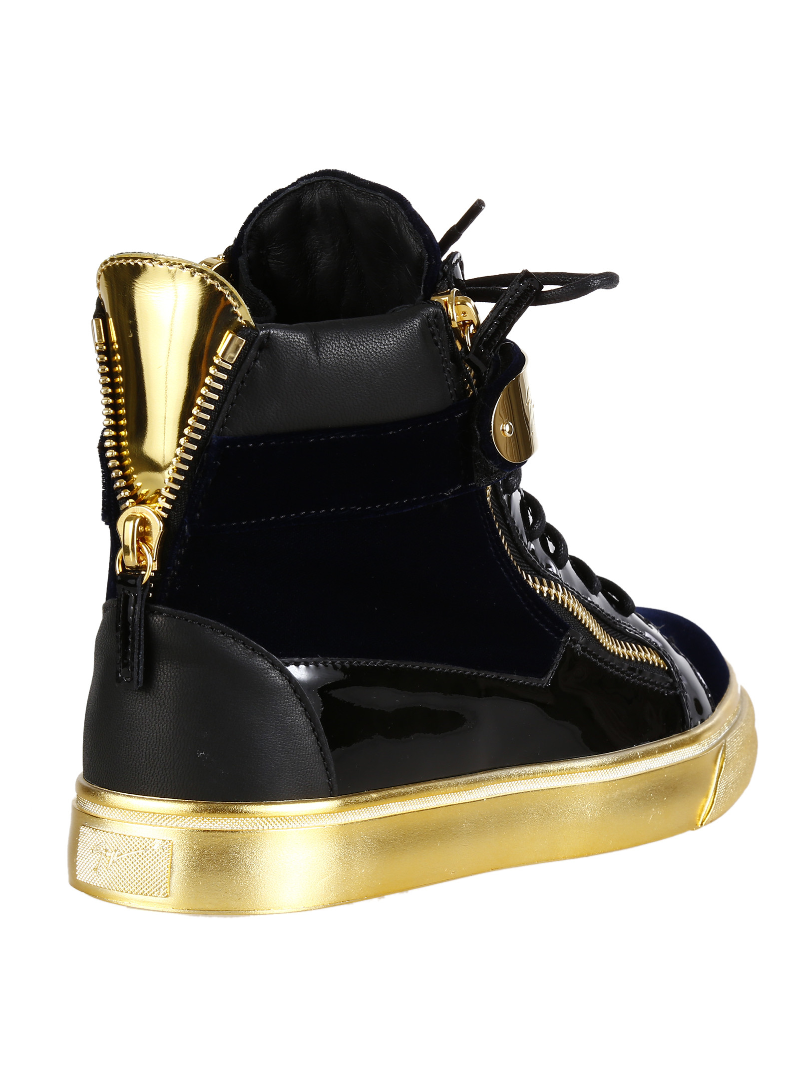 adidas black and gold high tops