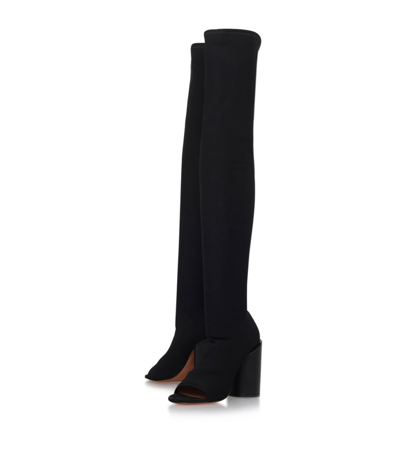 Givenchy Reane Peep-toe Over-knee Boot in Black | Lyst