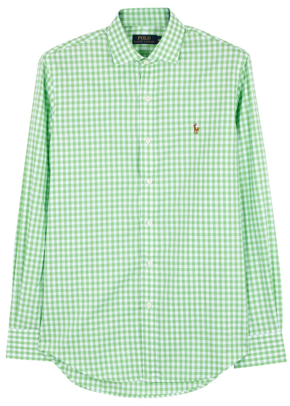 de0b1b529 ... france polo ralph lauren bright green checked cotton shirt in green for  men ff933 b0d7e