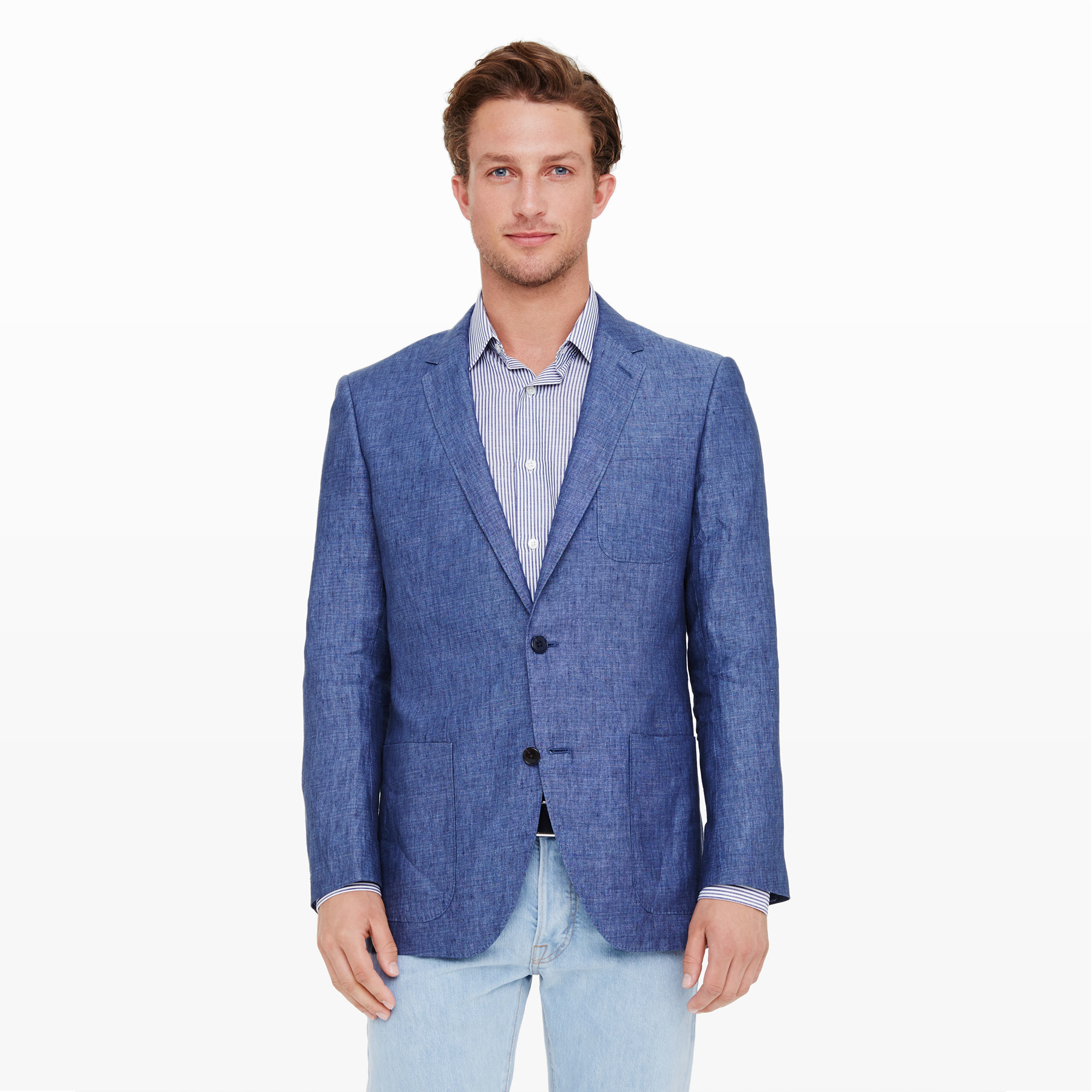 Blue Linen Blazer Photo Album - Reikian