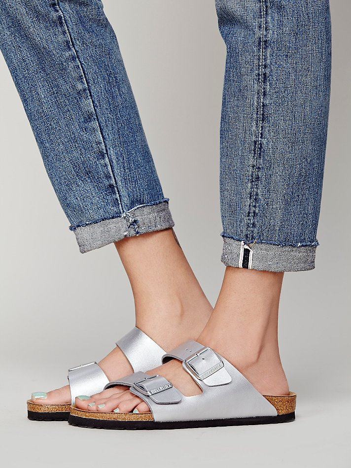 Lyst Free People Arizona Metallic Birkenstock In Metallic