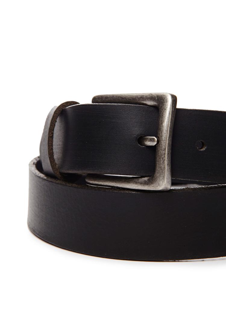 forever 21 genuine leather belt in black for lyst