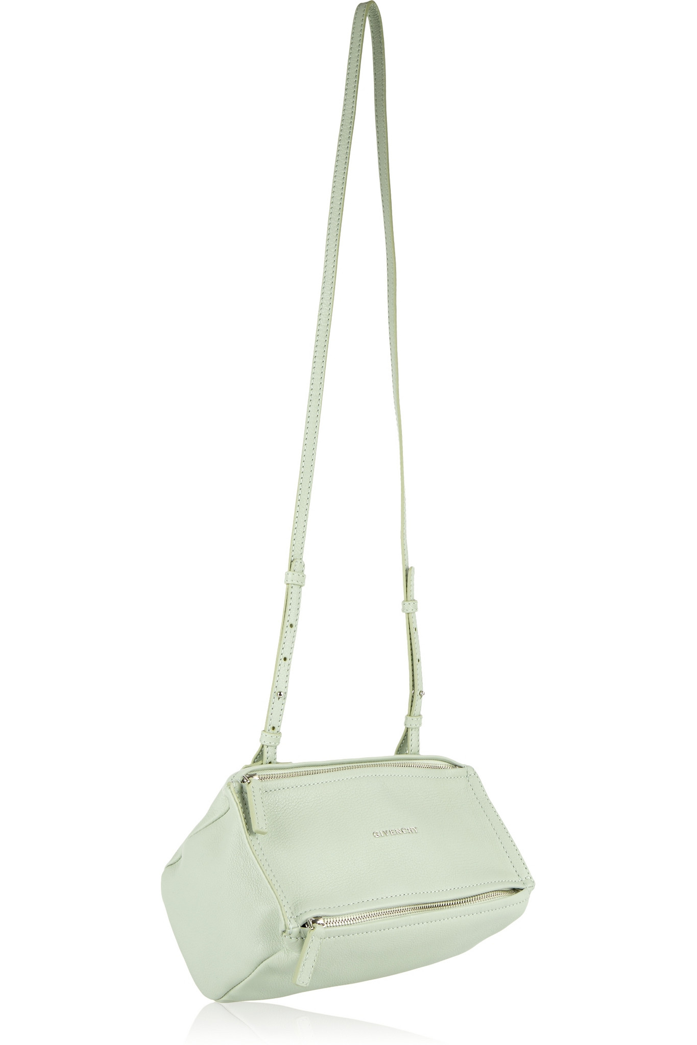 7fb6abaa9ee0 Lyst - Givenchy Mini Pandora Shoulder Bag In Mint Textured-leather ...