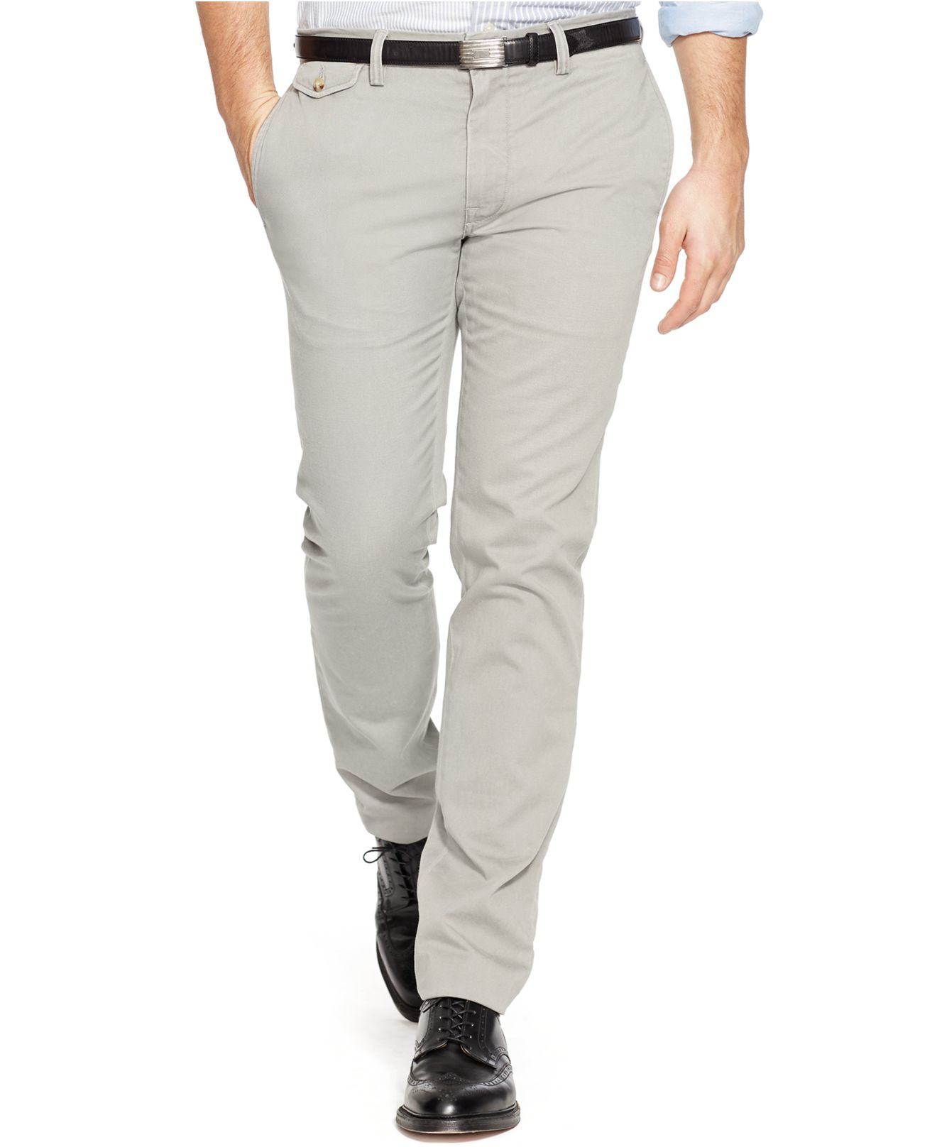 066fae7888e4f Lyst - Polo Ralph Lauren Slim-fit Bedford Chino Pants in Gray for Men