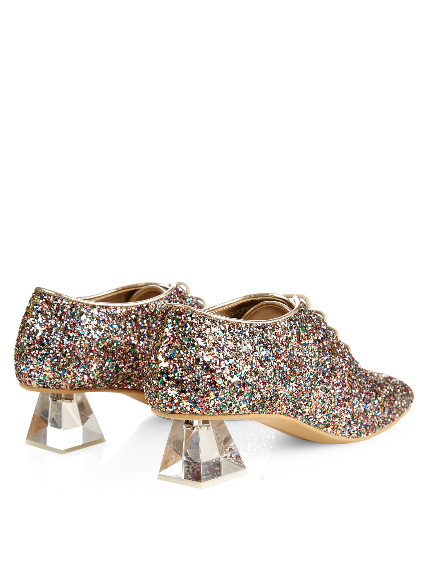 137254174d12 Lyst - Stella McCartney Glitter Lace-up Shoes