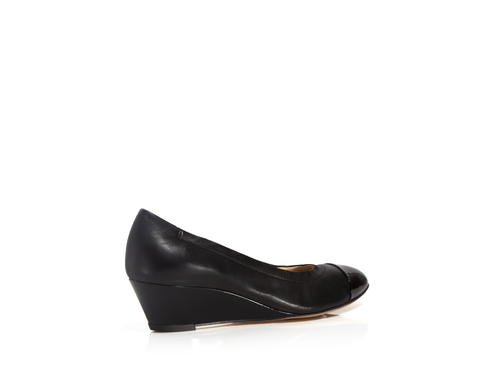 AGL Leather Cap-Toe Wedges how much online lmoOlLIb