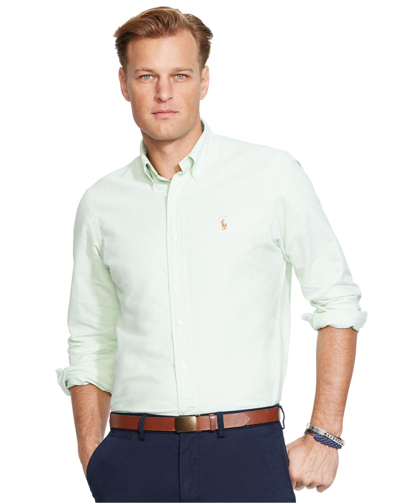 Polo Ralph Lauren Big And Tall Classic Fit Oxford Shirt In