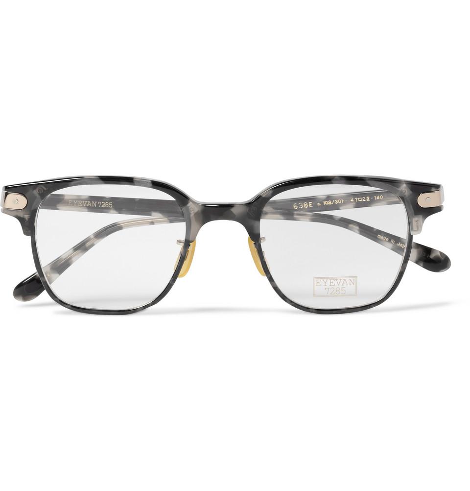 b8425cfed1 Lyst - Eyevan 7285 638 Squareframe Acetate Optical Glasses in Brown ...